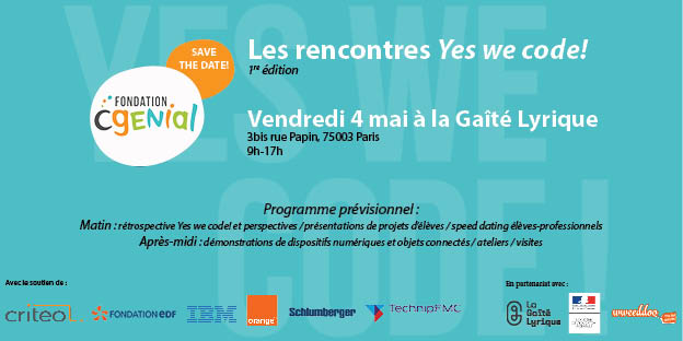 Le 4 mai, c'est Yes we code! à la Gaîté